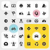 Navigation - UI Ultimate.  36 exclusive PRO vector icon set / pack #46 Perfect grouped and Isolated on color background.  Complete collection - https://www.istockphoto.com/collaboration/boards/A0mzEqrsTUuc-1_uXXg_EQ