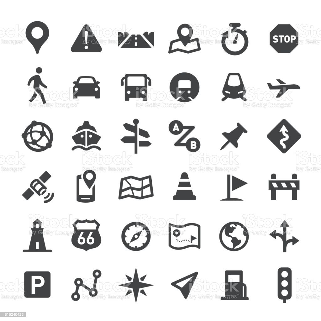 Navigation Icons - Big Series vector art illustration