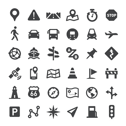 Navigation Icons Big Series Stock Illustration - Download Image Now