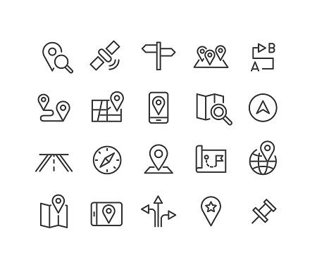 Navigation Icons - Classic Line Series