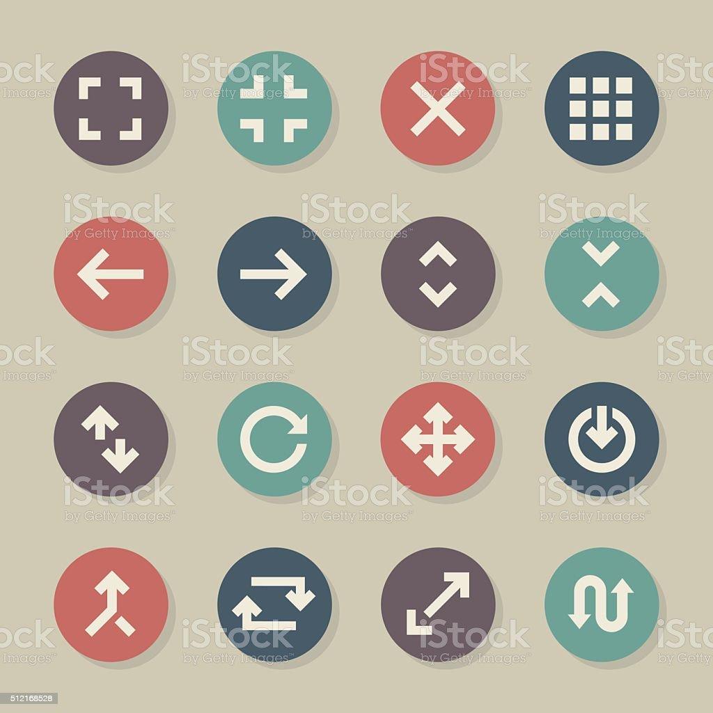 Navigation Icons - Color Circle Series vector art illustration