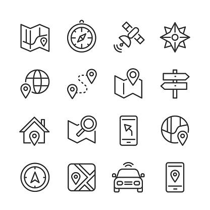 Navigation Icons — Monoline Series