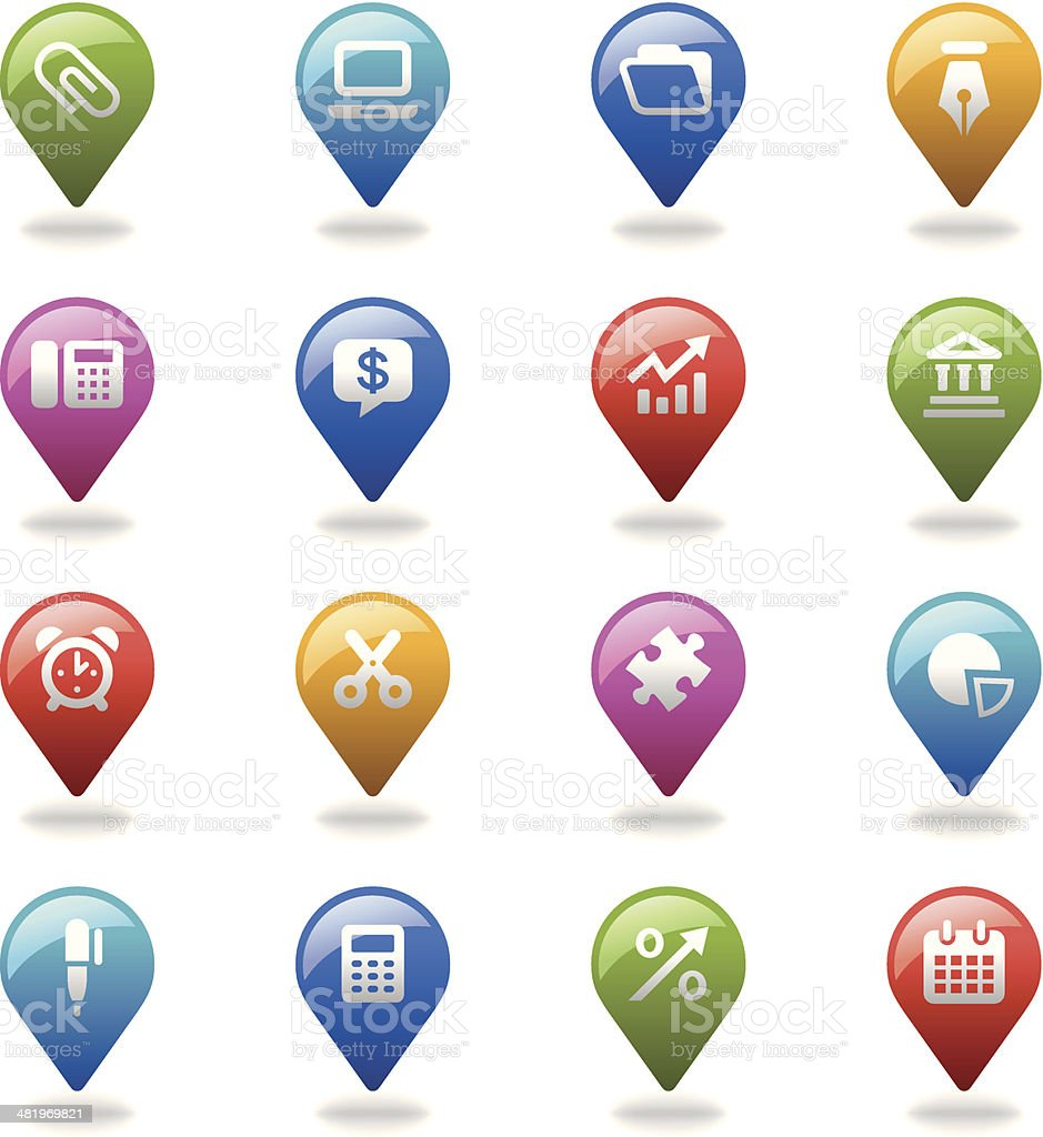 Navigation Icons Set | Business & Office royalty-free stock vector art