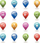 An illustration of communication icons set for your web page, presentation, & design products.