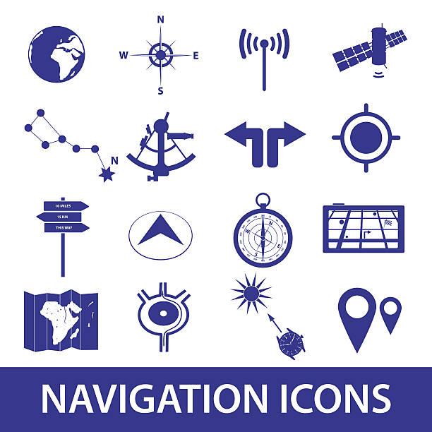 ilustrações de stock, clip art, desenhos animados e ícones de eps10 conjunto de ícones de navegação - sextante