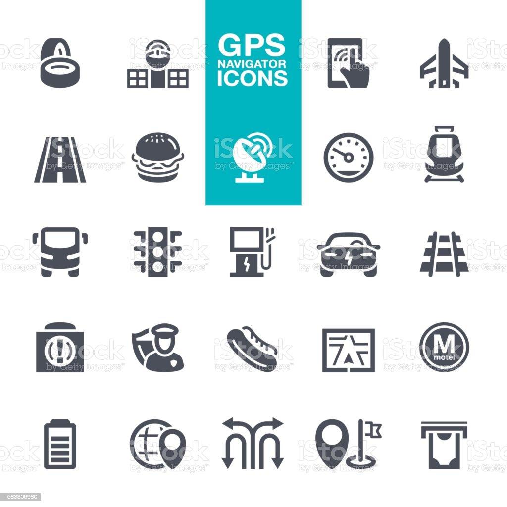 GPS-Navigation Icons set – Vektorgrafik