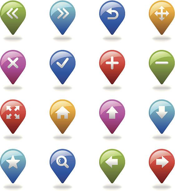 탐색 아이콘 세트/웹 & 인터넷 - home icon stock illustrations