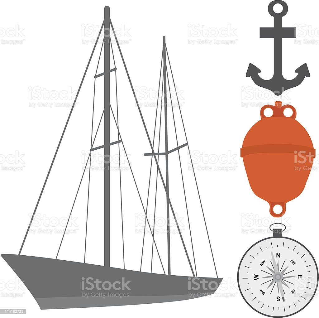 Navigation icons royalty-free navigation icons stock vector art & more images of anchor - vessel part