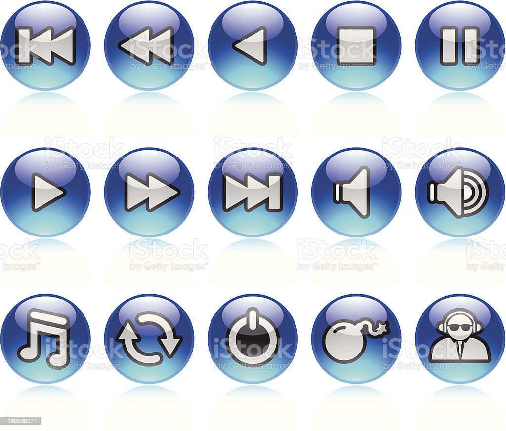 Navigation Icons royalty-free stock vector art