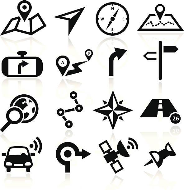 illustrations, cliparts, dessins animés et icônes de icônes de navigation - rond point