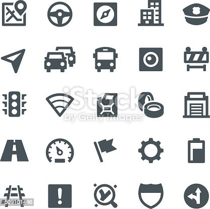 Traffic, navigation, GPS, icons, icon set, interstate, navigation system, road, compass