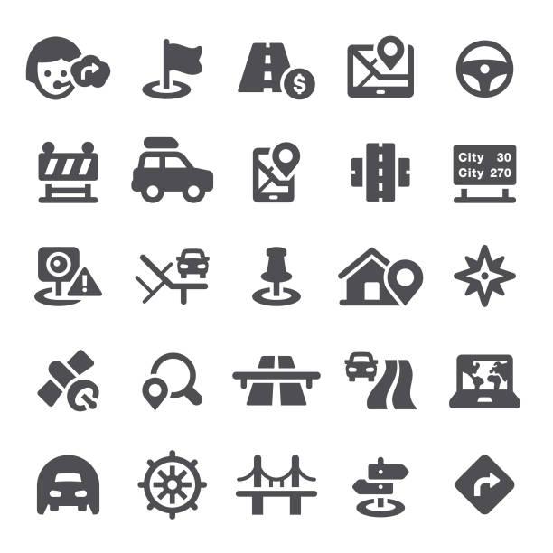 ilustraciones, imágenes clip art, dibujos animados e iconos de stock de iconos de navegación - íconos de caminos