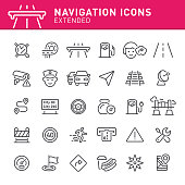 Navigation, GPS, traffic, icon, icon set, compass, map, co-pilot