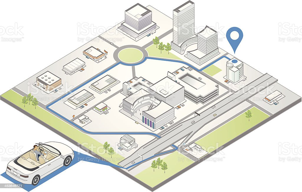 GPS Navigation Illustration royalty-free stock vector art