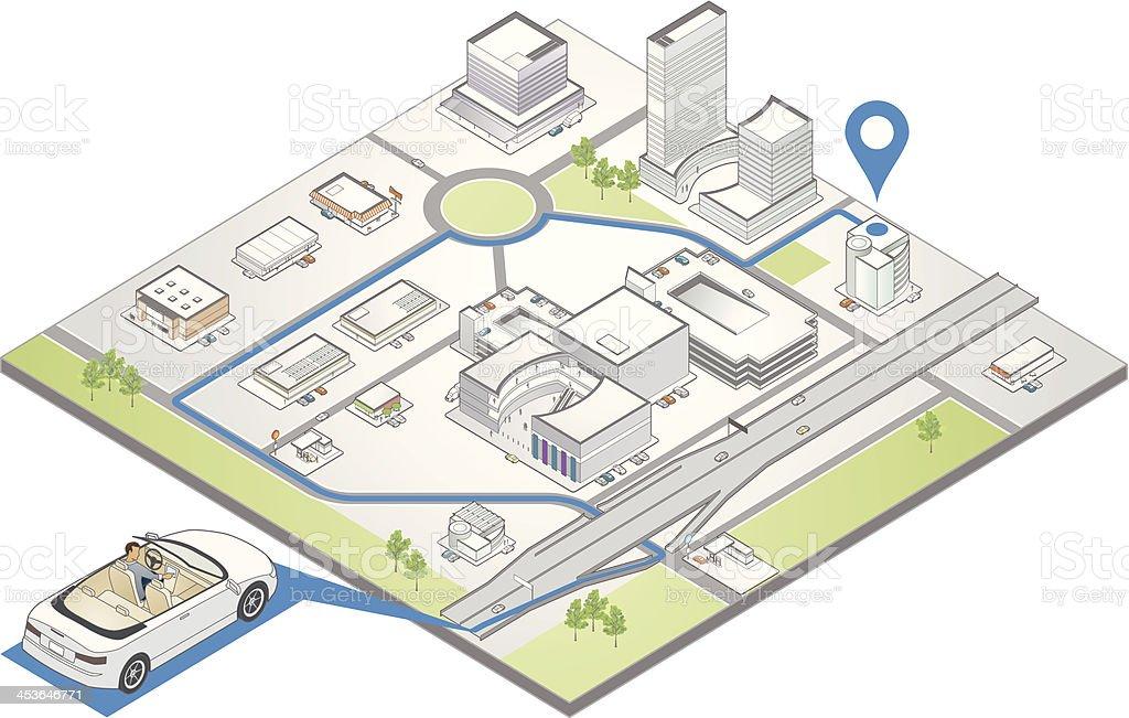 GPS Navigation Illustration vector art illustration