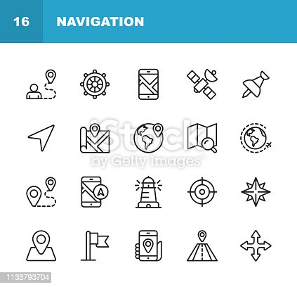 20 Navigation Outline Icons.