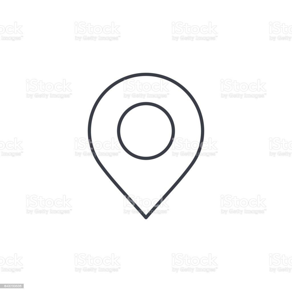 Navigation, location marker, cursor thin line icon. Linear vector symbol vector art illustration