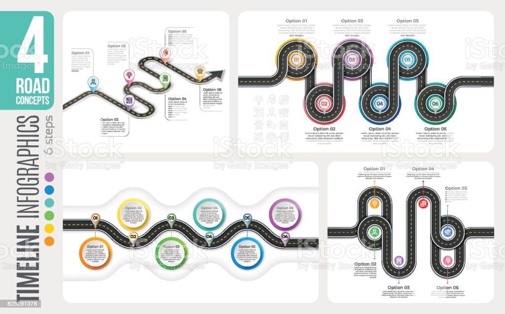 Navigation map 6 steps timeline infographic concepts. 4 winding royalty-free navigation map 6 steps timeline infographic concepts 4 winding stock illustration - download image now