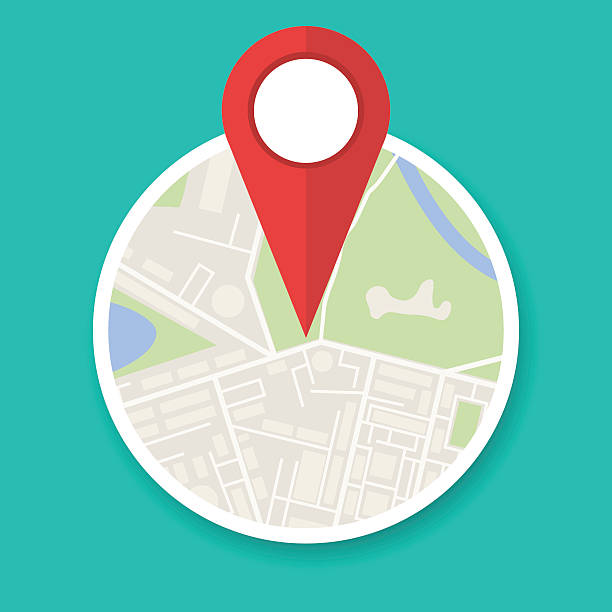 navigation map icon - maps icons stock illustrations, clip art, cartoons, & icons