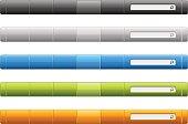 Minimalist elegant navigation menu for your website. The set includes menu in 5 different color themes.