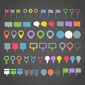 Navigation pins collection
