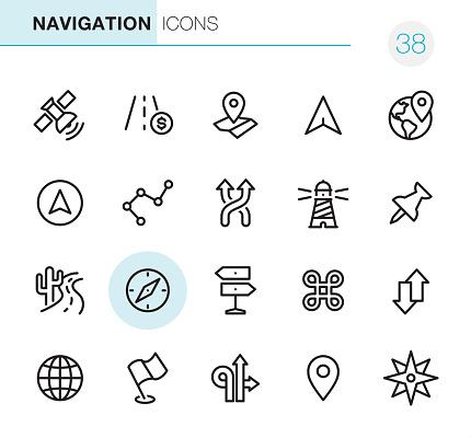 Navigation - Pixel Perfect icons