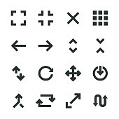 Navigation Silhouette Icons Vector EPS File.