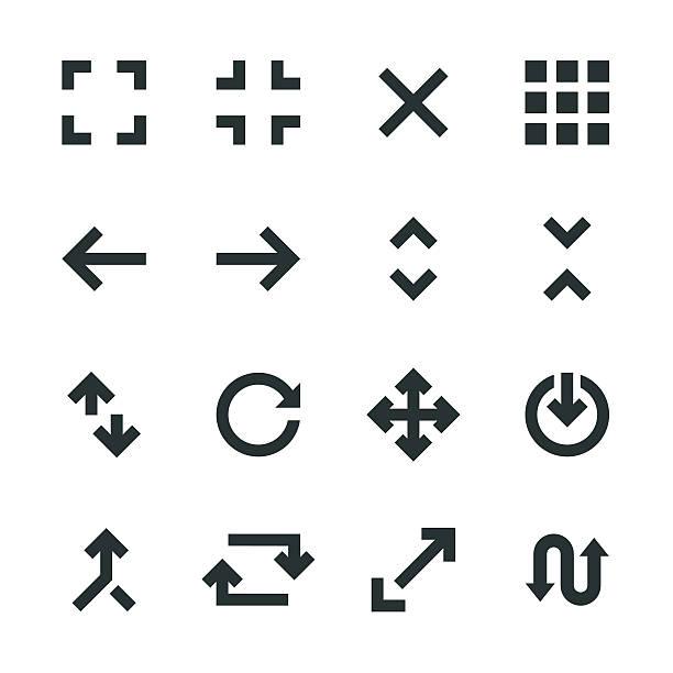 illustrazioni stock, clip art, cartoni animati e icone di tendenza di silhouette e icone di navigazione - near