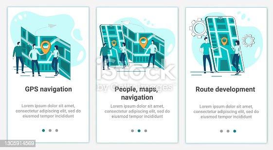 istock GPS navigation theme 1305914569