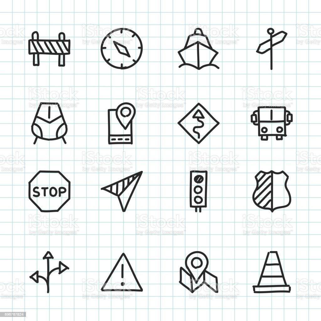 Navigation & Travel Icon - Hand Drawn Series royalty-free stock vector art