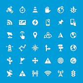 Navigational Equipment vector icons set