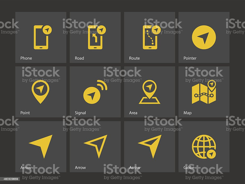 Navigator icons. vector art illustration