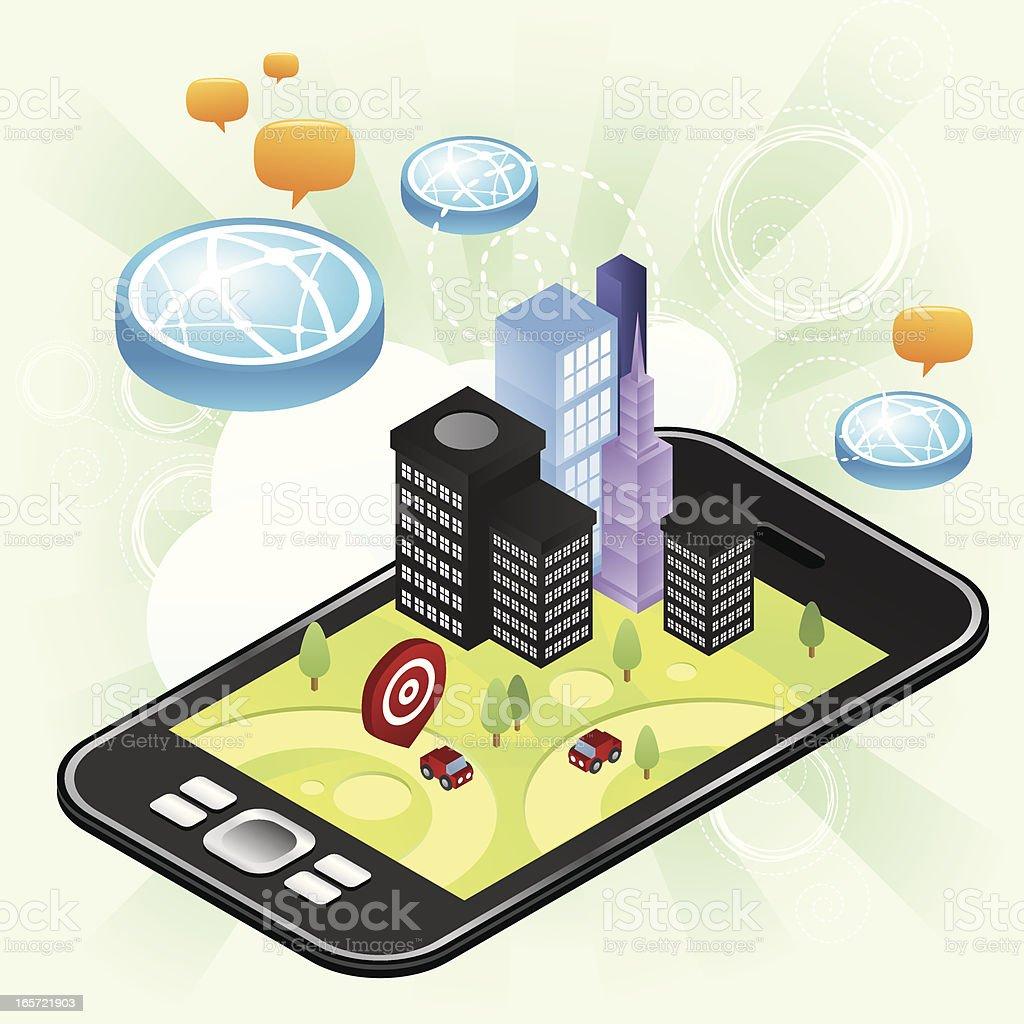 Navigator next generation phone royalty-free stock vector art