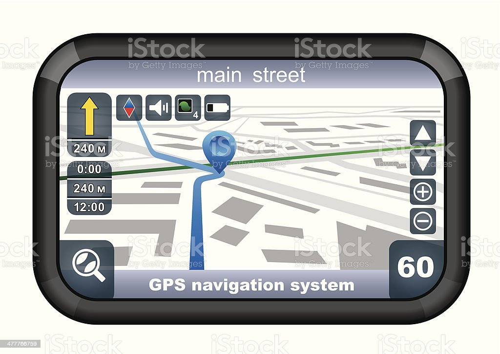 GPS navigator vector art illustration