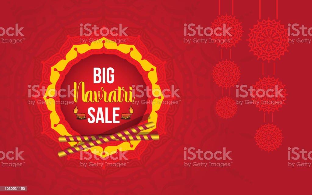 Navratri Festival Sale Offer Background Design Template Stock Vector ...