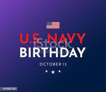 istock U.S. Navy Birthday, October 13.  Vector 1343907531