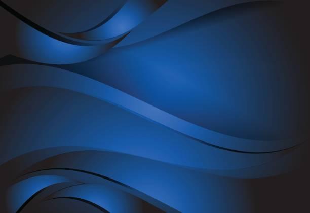 Navy Blue gradient abstract line wavy background Navy Blue abstract line curve and wavy background dark blue stock illustrations