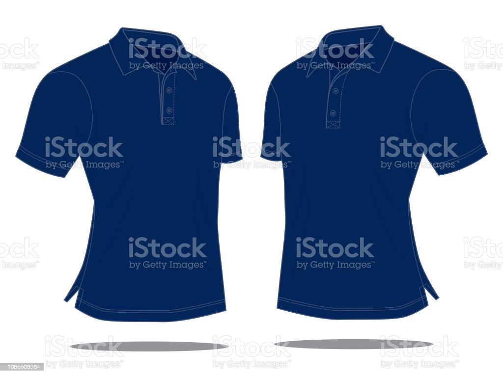 4875e4a900b31a Dunkelblaue Polo-Shirt für Vorlage Lizenzfreies dunkelblaue poloshirt für  vorlage stock vektor art und mehr