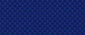 Navy blue seamless pattern in retro style. Can be used for premium royal party.