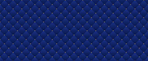복고 스타일 네이 비 블루 완벽 한 패턴입니다. 프리미엄 로얄 파티에 사용할 수 있습니다. - 왕족 stock illustrations