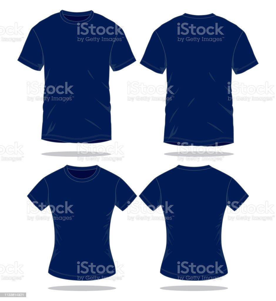 Navy Blue Tshirt Vector For Template Stock Illustration