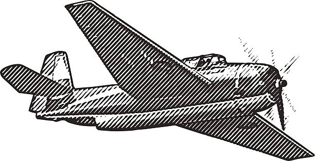 us navy fighter plane - 1940s style stock illustrations