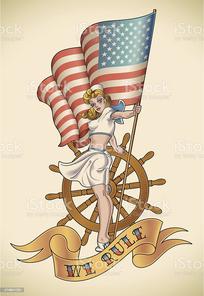 US Navy girl royalty-free us navy girl stock vector art & more images of adult