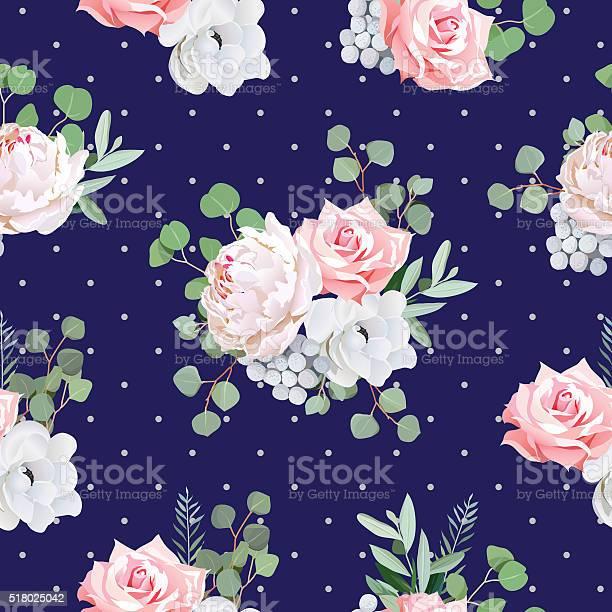 Navy pattern with bouquets of flowers and eucaliptis leaves vector id518025042?b=1&k=6&m=518025042&s=612x612&h=zcqrcnti 5 wwrpi1zpzeuxuhzcdb3ok7lsxumlnl3a=
