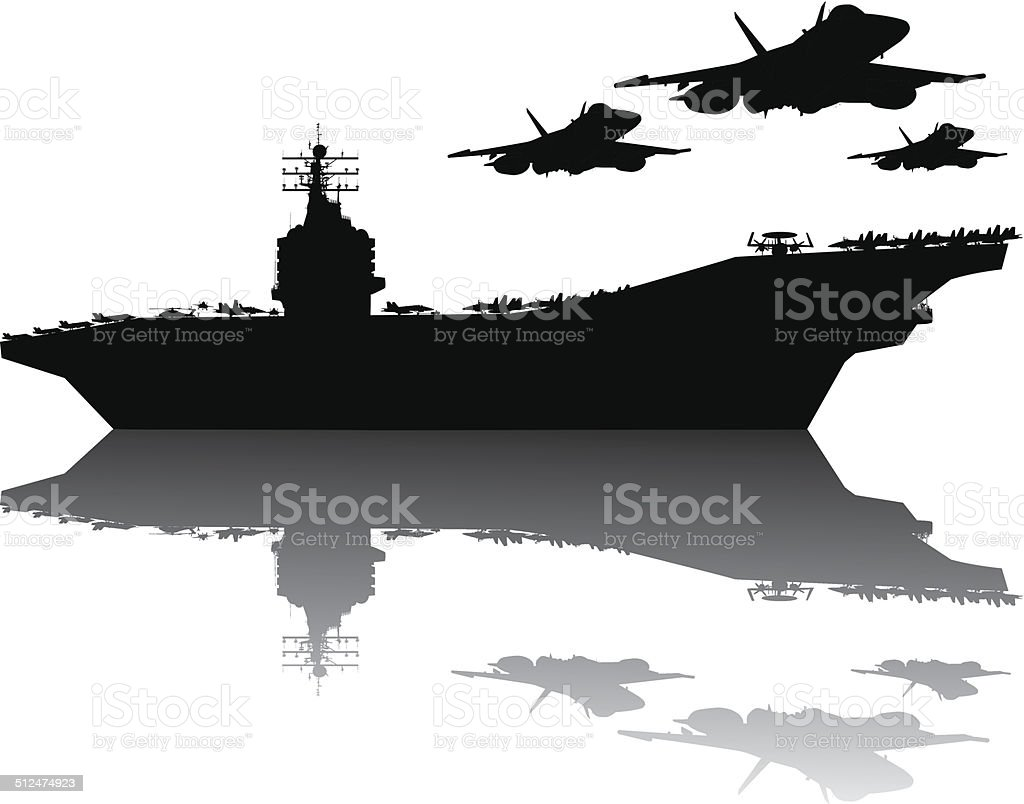 royalty free aircraft carrier clip art vector images rh istockphoto com Aircraft Carrier Coloring Pages us aircraft carrier clipart