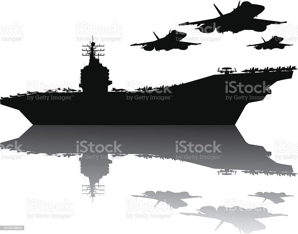 Navy power vector art illustration