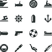 Navy Silhouette Icons