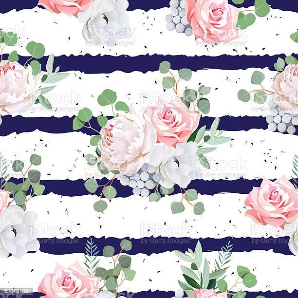 Navy striped seamless vector pattern with bouquets and speckled vector id520181082?b=1&k=6&m=520181082&s=612x612&h=lieploi5aekfi8rqxihxq9c7tbqihjlxtazma mnkog=