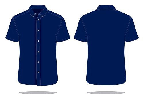 Navy Uniform Shirt Vector for Template