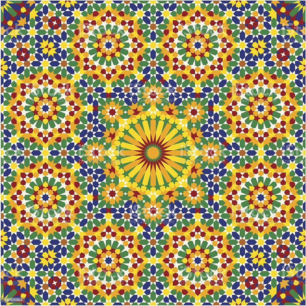 Nawa Seamless Pattern Four royalty-free stock vector art